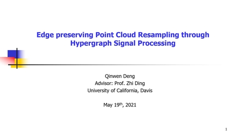 Thumbnail for entry Edge preserving Point Cloud Resampling through Hypergraph Signal Processing