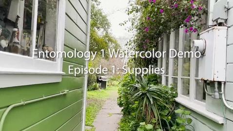Thumbnail for entry Entomology 1 Watercolor Demo: Episode 1