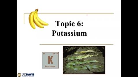 Thumbnail for entry Topic 6 Soil K SSC 109 2021