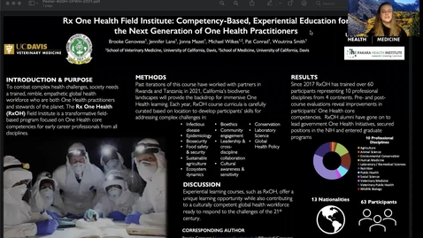 Thumbnail for entry UFWH 2021 - Brooke Genovese_Rx One Health Field Institute_ Competency-Based, Experiential Education for the Next Generation of One Health Practitioners