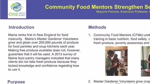 Thumbnail for entry UFWH 2021 - Marjorie Peronto_Community Food Mentors Strengthen Self Sufficiency Skills of Food Pantry Users