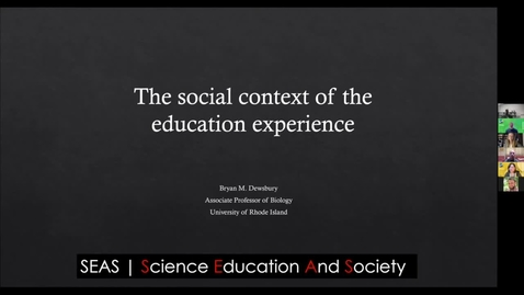 Thumbnail for entry 2020 SoTL Keynote: The Social Context of the Education Experience