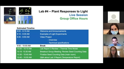 Thumbnail for entry PLS100BL Live Session - Lab 4 - Plants Responses to Light