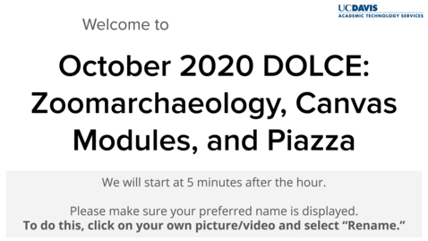 Thumbnail for entry DOLCE - October 8, 2020