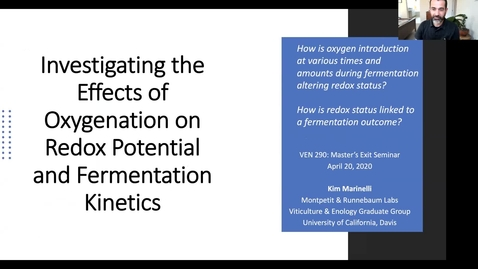 Thumbnail for entry VEN290 - Investigating the effects of oxygenation on redox potential and fermentation kinetics