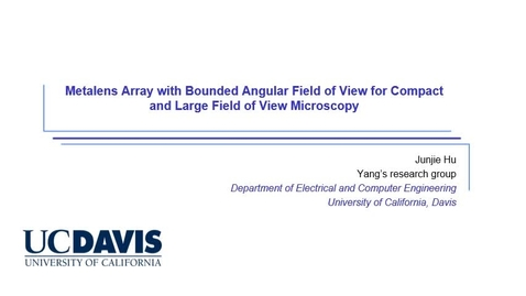 Thumbnail for entry Metasurface with Bounded Angular Field of View for Compact and Large Field of View Imaging