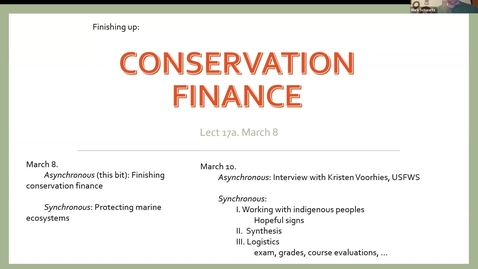 Thumbnail for entry ESP170 L17a March 8 Conservation Finance