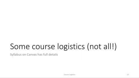 Thumbnail for entry ECS 120 1a:2 course policies