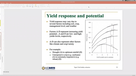 Thumbnail for entry Soil Fertility Evaluation (Part 2) Ch 9 May 14 Lecture