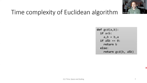 Thumbnail for entry ECS 220 1b:2.2-1 time complexity of GCD, factoring