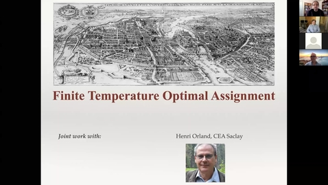 Thumbnail for entry Patrice Koehl: Finite Temperature Optimal Assignment