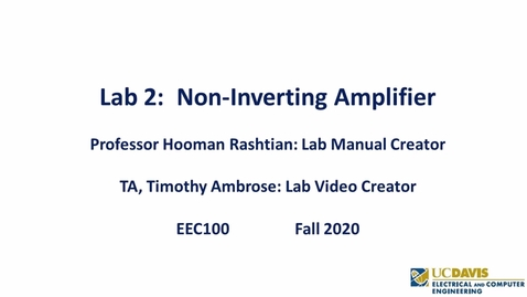 Thumbnail for entry EEC 100 Lab 2-  Non-Inverting Amplifier