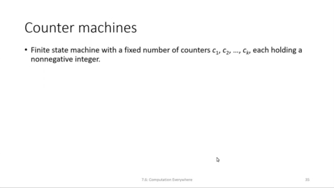 Thumbnail for entry ECS 220 7a:7.6-1 counter machine definition and examples