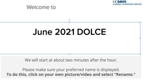 Thumbnail for entry DOLCE-June 4, 2021- Open Exams, Alternative Assessments