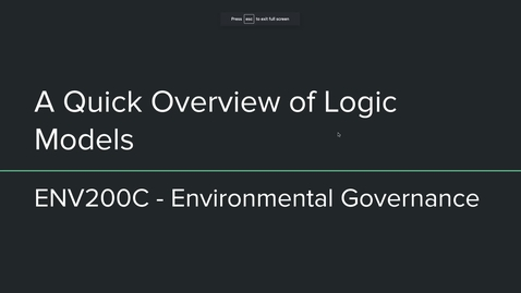 Thumbnail for entry env200c - logic models for policy analysis