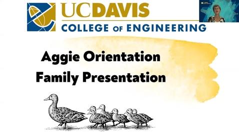 Thumbnail for entry Parent Orientation Webinar 2021