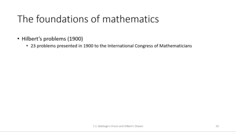 Thumbnail for entry ECS 220 6a:7.1 axiomatic foundation of mathematics