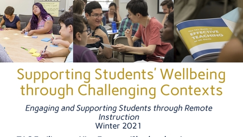 Thumbnail for entry CEE Graduate Student Workshop - Supporting Students' Wellbeing through Challenging Contexts
