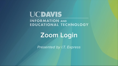Thumbnail for entry How Do I Login into Campus Zoom
