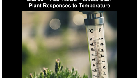Thumbnail for entry PLS100BL Lab 3: Plant Responses to Temperature