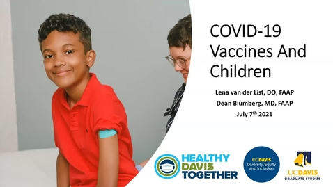 Thumbnail for entry Covid-19 Vaccines and Children