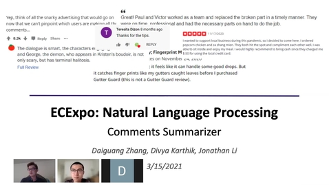 Thumbnail for entry Natural Language Processing: Comments Summarizer