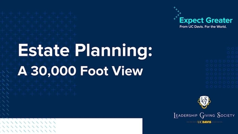 Thumbnail for entry A 30,000 Foot View of Estate Planning
