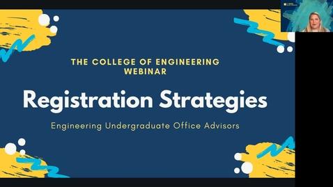 Thumbnail for entry Registration Strategies Webinar 2021