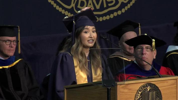 2018 Fall Commencement Student Speaker Annie Chao