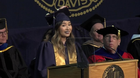Thumbnail for entry 2018 Fall Commencement Student Speaker Annie Chao