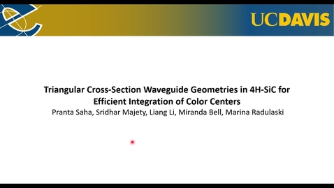 Thumbnail for entry Triangular Cross-section Waveguide Geometries in 4H-SiC for Efficient Integration of Color Centers
