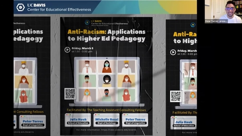 Thumbnail for entry CEE Graduate Student Workshop - Anti-Racism: Applications to Higher Ed Pedagogy