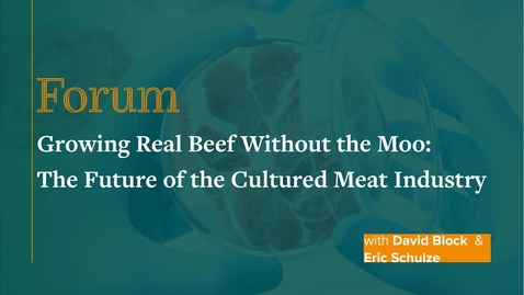 Thumbnail for entry Forum: Growing Real Beef Without the Moo