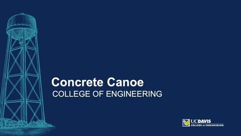 Thumbnail for entry Concrete Canoe Student Club Fair Video