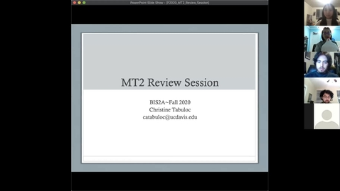 Thumbnail for entry Christine's MT2 review session