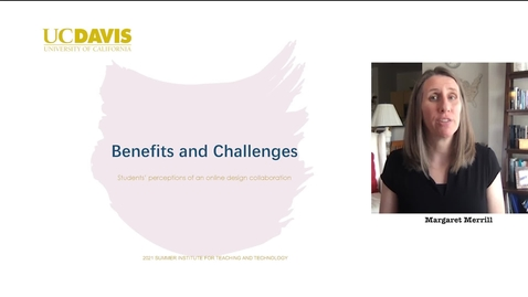 Thumbnail for entry SITT 2021 - Benefits and challenges during online collaboration