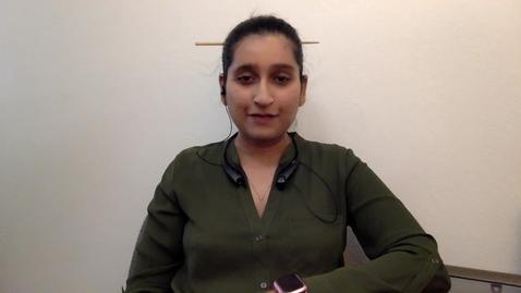 Thumbnail for entry Student talk_Marwa Zafarullah, current IGG student, Video Graduate School