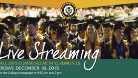 Thumbnail for entry Fall Commencement Ceremony 2015 @ 9:30am
