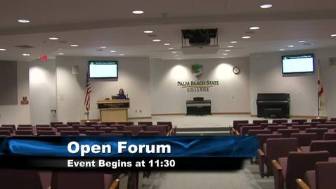 Thumbnail for entry Palm Beach Gardens Campus Provost/Dean Open Forum - 10/5/18 - 11:30am - 3:30pm