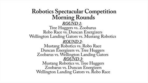 Thumbnail for entry Robotics Spectacular: Morning Rounds
