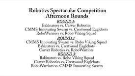Thumbnail for entry Robotics Spectacular: Afternoon Rounds