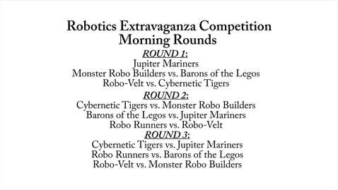 Thumbnail for entry Robotics Extravaganza: Morning Rounds