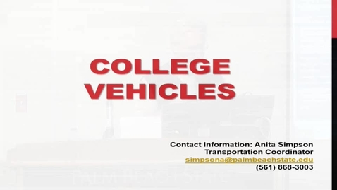 Thumbnail for entry College Vehicles