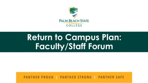 Thumbnail for entry 7-9-2020  Return to Campus Plan - Belle Glade