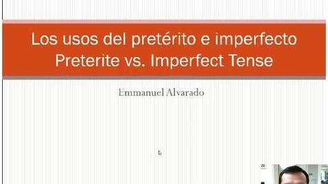 Thumbnail for entry Professor Alvarado - Los unos del pretérito e imperfecto