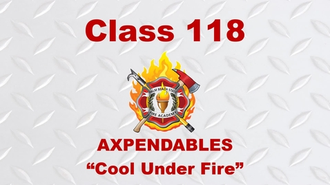 Thumbnail for entry Fire Academy Graduation - Day Class 118 - 04.15.21