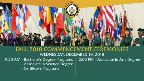 Thumbnail for entry Fall Commencement 2018