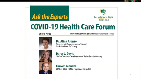 Thumbnail for entry PBSC Covid-19 Healthcare Forum - 04.15.21