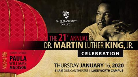 Thumbnail for entry 21st Annual Martin Luther King Celebration -  January 16th 2020