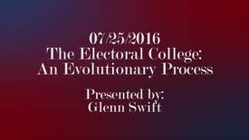 Thumbnail for entry The Electoral College: An Evolutionary Process